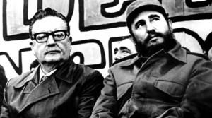 chile Fidel-Castro-Salvador-Allende