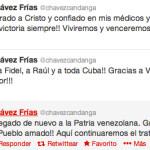 El presidente Chávez ya está en Venezuela