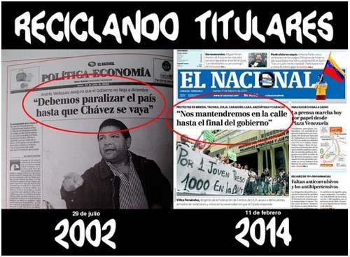 venezuela-Titulares reciclados