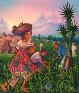 campesinos pintura