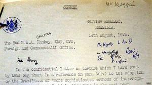 Carta secreta de la Embajada británica en Brasilia