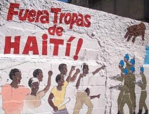 haiti fuera tropas Mural
