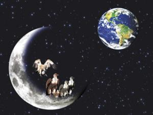 buitres en la luna
