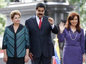 Dilma, Maduro e Cristina em Caracas