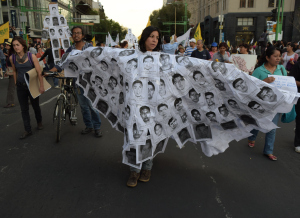 15,000 march against disappearance of Ayotzinapa students