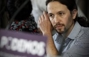 o30/05/14, Madrid. Rueda de prensa de la formacion politica 'Podemos'. En la imagen el numero uno de la candidatura que se presento a las elecciones europeas, Pablo Iglesias. / foto: Alberto Di Lolli