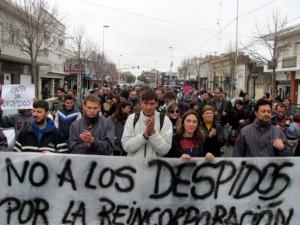 protestas despidos rosario