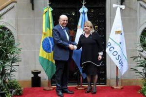 Malcorra y Serra, cancillers de Argentina y (interino de) Brasil