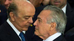 br Jose Serra y Michel Temer
