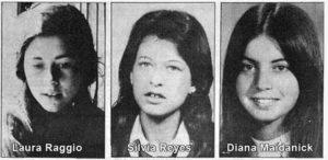 """Las """"Pibas de Abril"""", tres jovenes acribilladas en 1974 cuando empezó la coordinación represiva."""