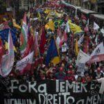 Rechazo popular, brutal represión: Un presidente que no puede dar la cara en Brasil