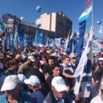 """En Argentina, masiva movilización: """"unidad por la justicia social"""""""